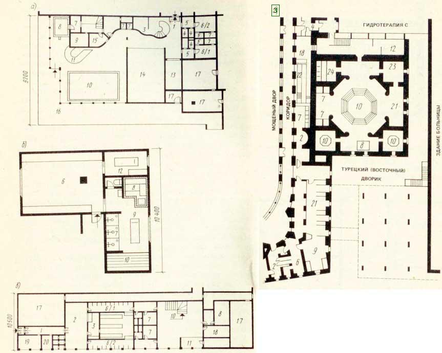 (план этажа); б