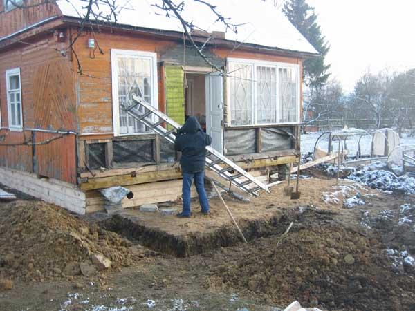 Загородного дома пристройка к дому