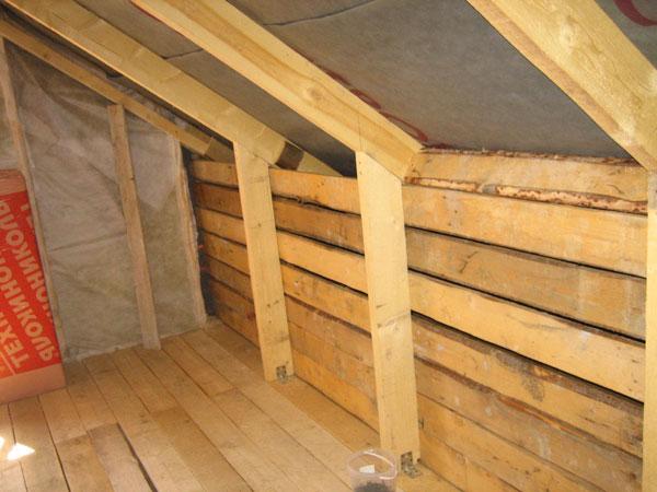 Утепление второго этажа деревянного дома своими руками