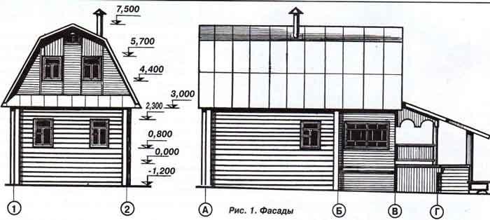схема, план дачного дома