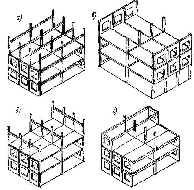 схемы каркасно-панельных