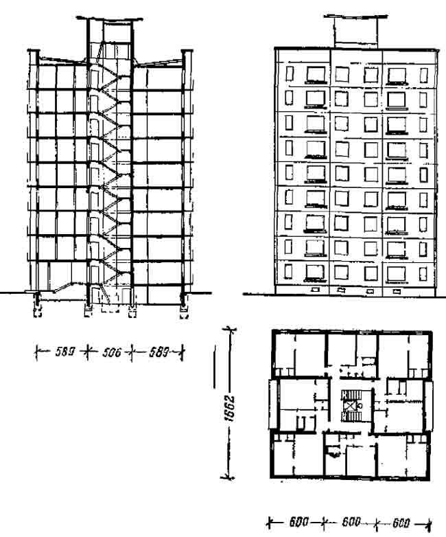 Односекционный 9-ти этажный