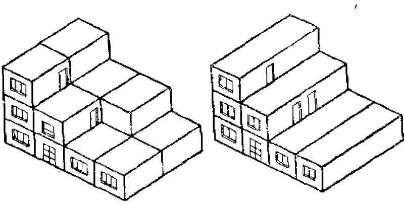Схема зданий со сплошной