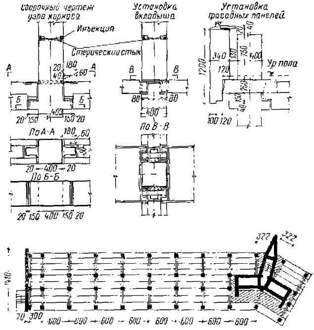 Схема перекрытия и детали