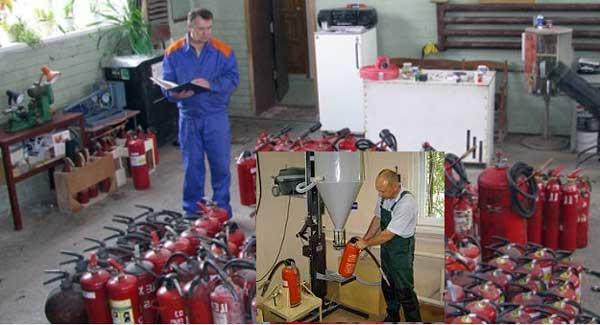 периодическая поверка огнетушителей