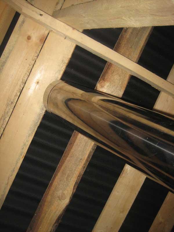 Самостоятельная установка отопительной печи: прорезание проёма в кровле - статьи о строительстве и ремонте