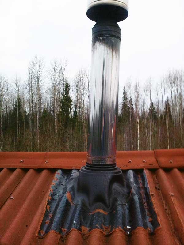 Установка дымохода на печь бутакова облицовка камины а нижним