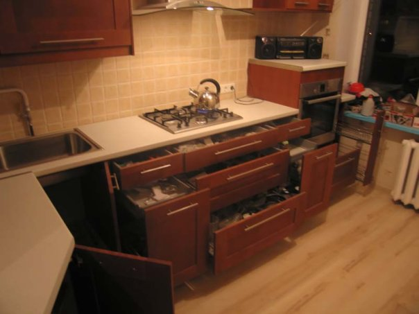 вместительность кухонной мебели